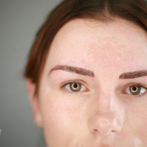 Makijaż permanentny brwi Opole, metoda cienia, metoda pudrowa